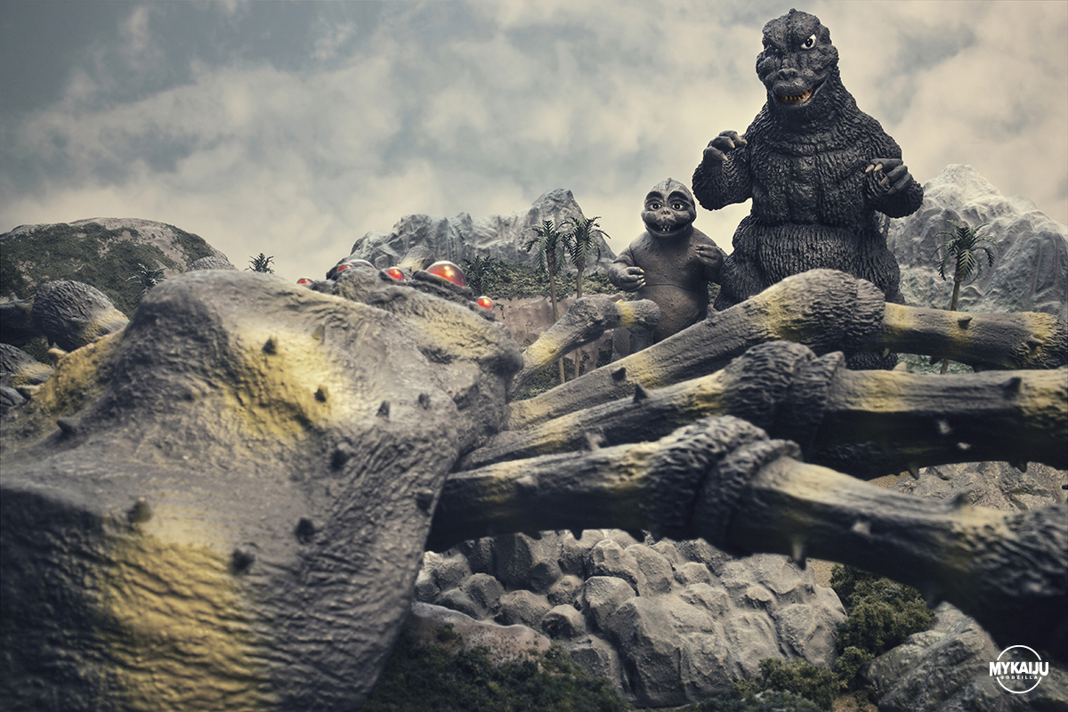 Son of Godzilla (X-Plus Godzilla, Miniya and Kumonga)