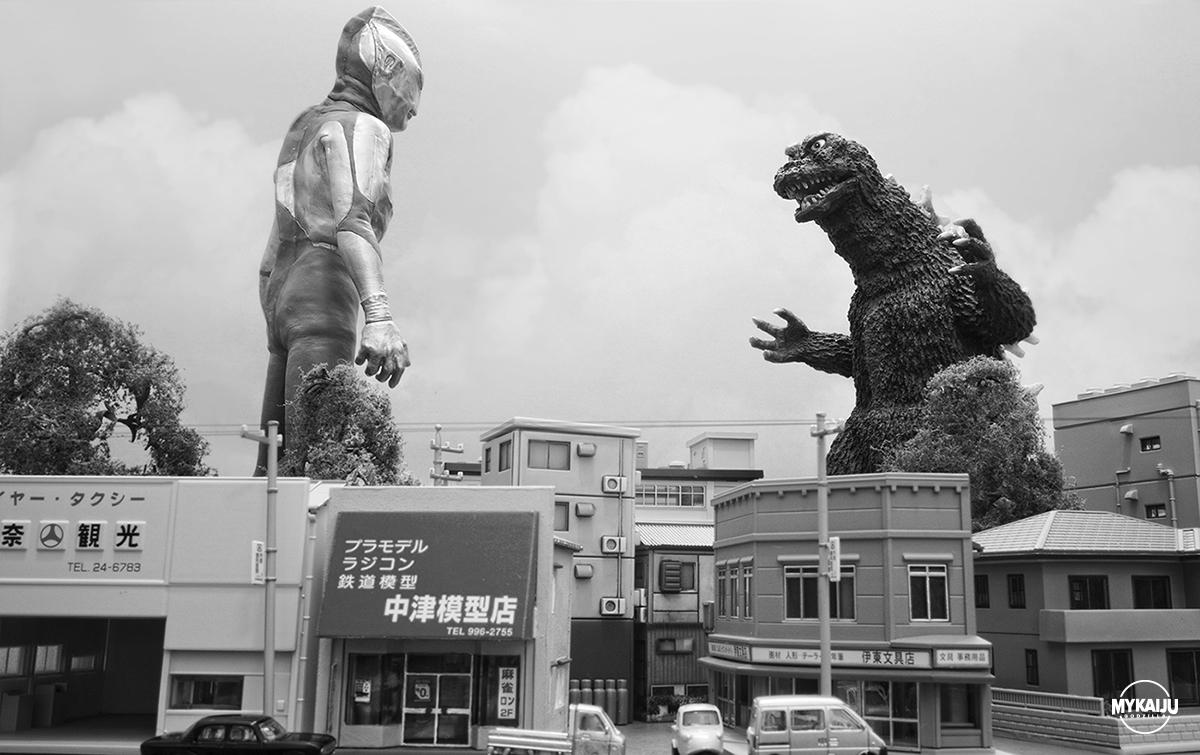Ultraman vs Godzilla (X-Plus and Abatross)