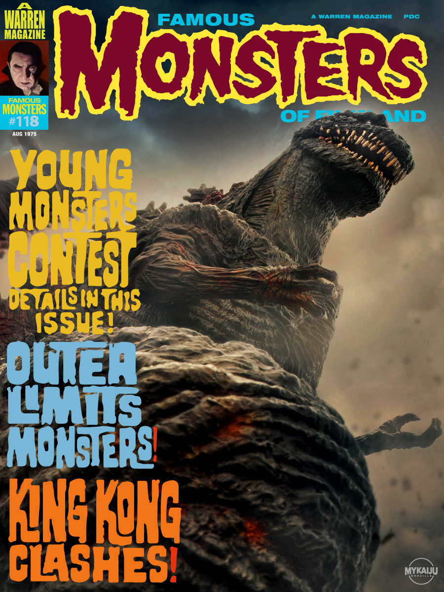 Famous Monsters Shin Godzilla faux cover