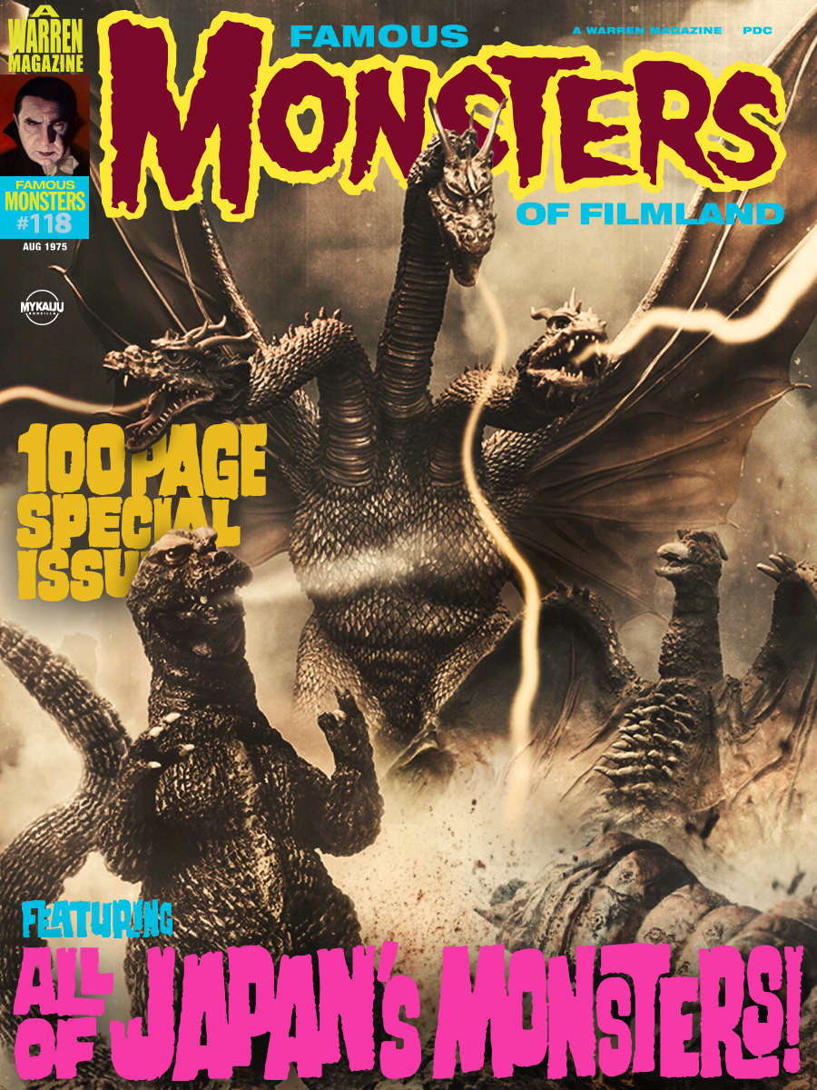 Famous Monsters Godzilla faux cover