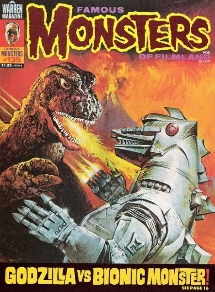 Famous Monsters of Filmland Issue #135 Godzilla vs Bionic Monster