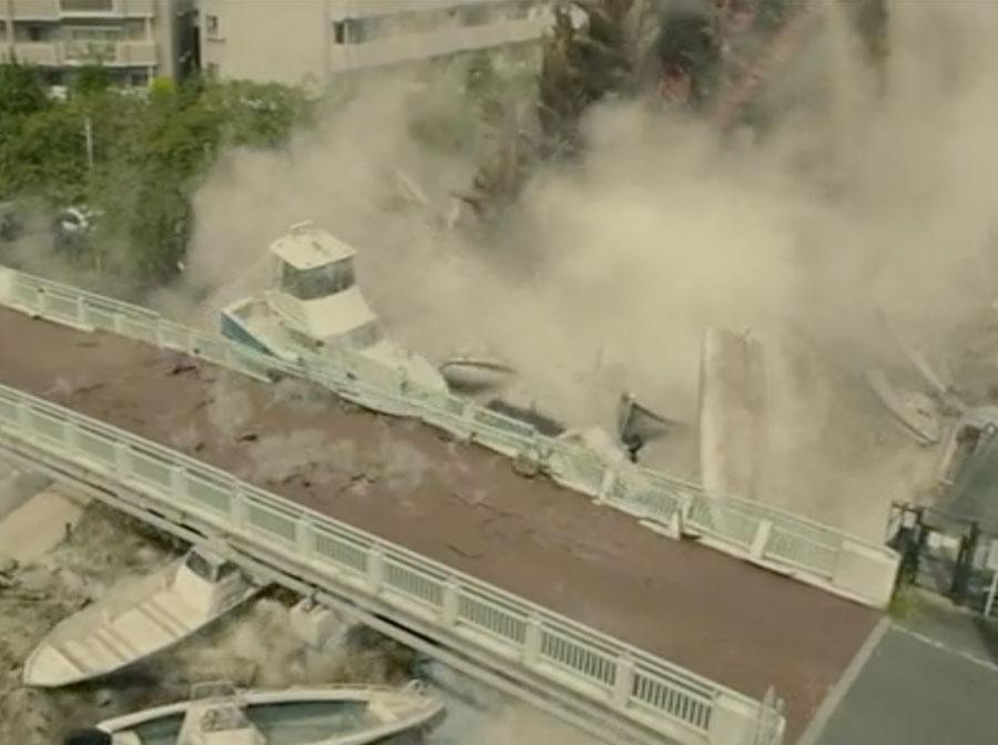 Shin Godzilla Asahibashi Bridge