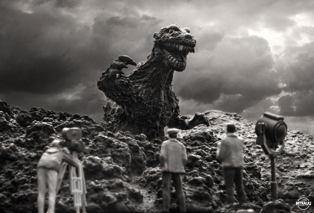 Godzilla 1954 on set