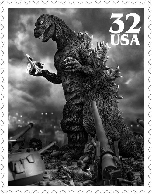 Godzilla 1954 Stamp