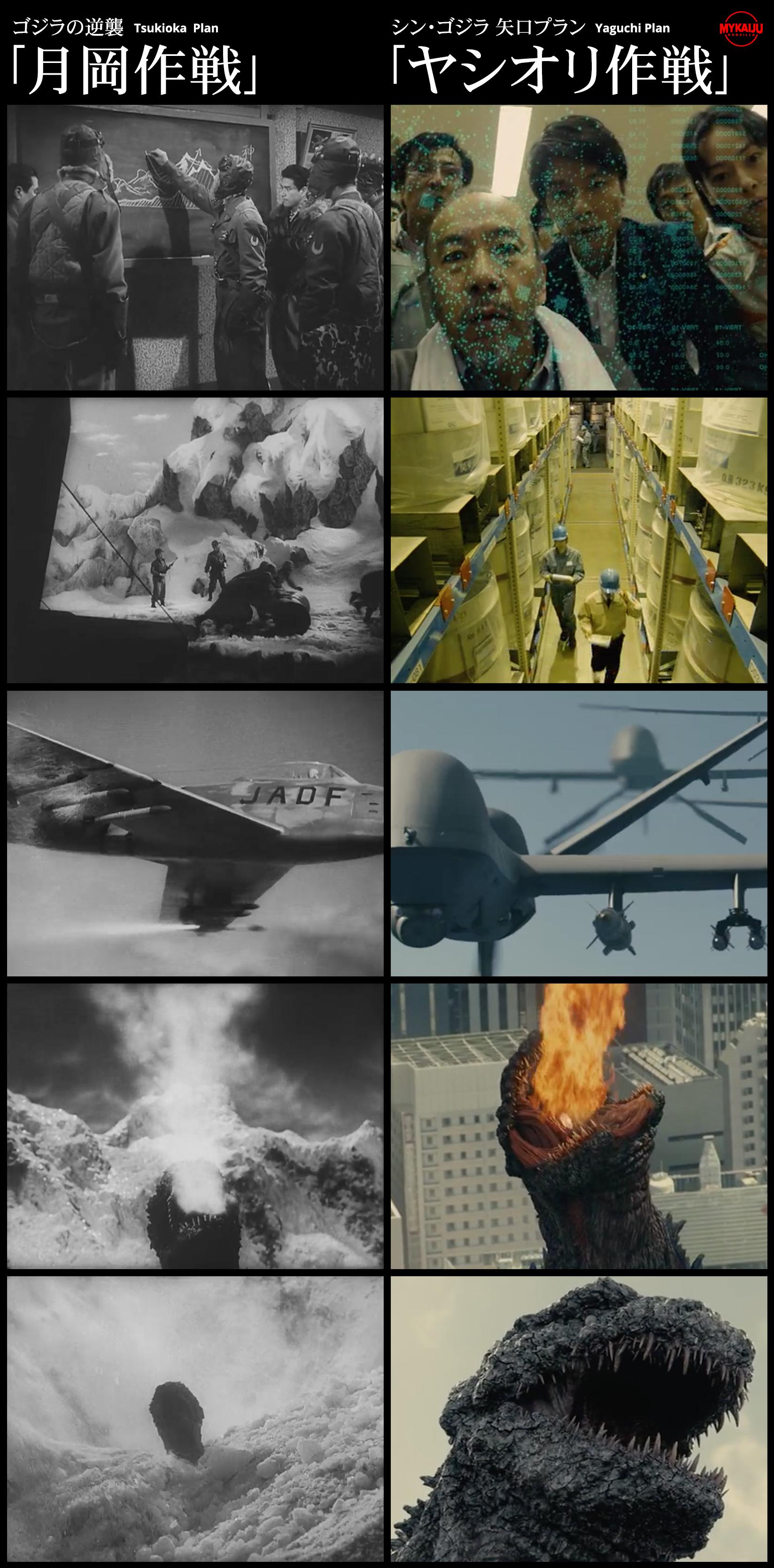 Godzilla 1955 and Godzilla 2016 Plans