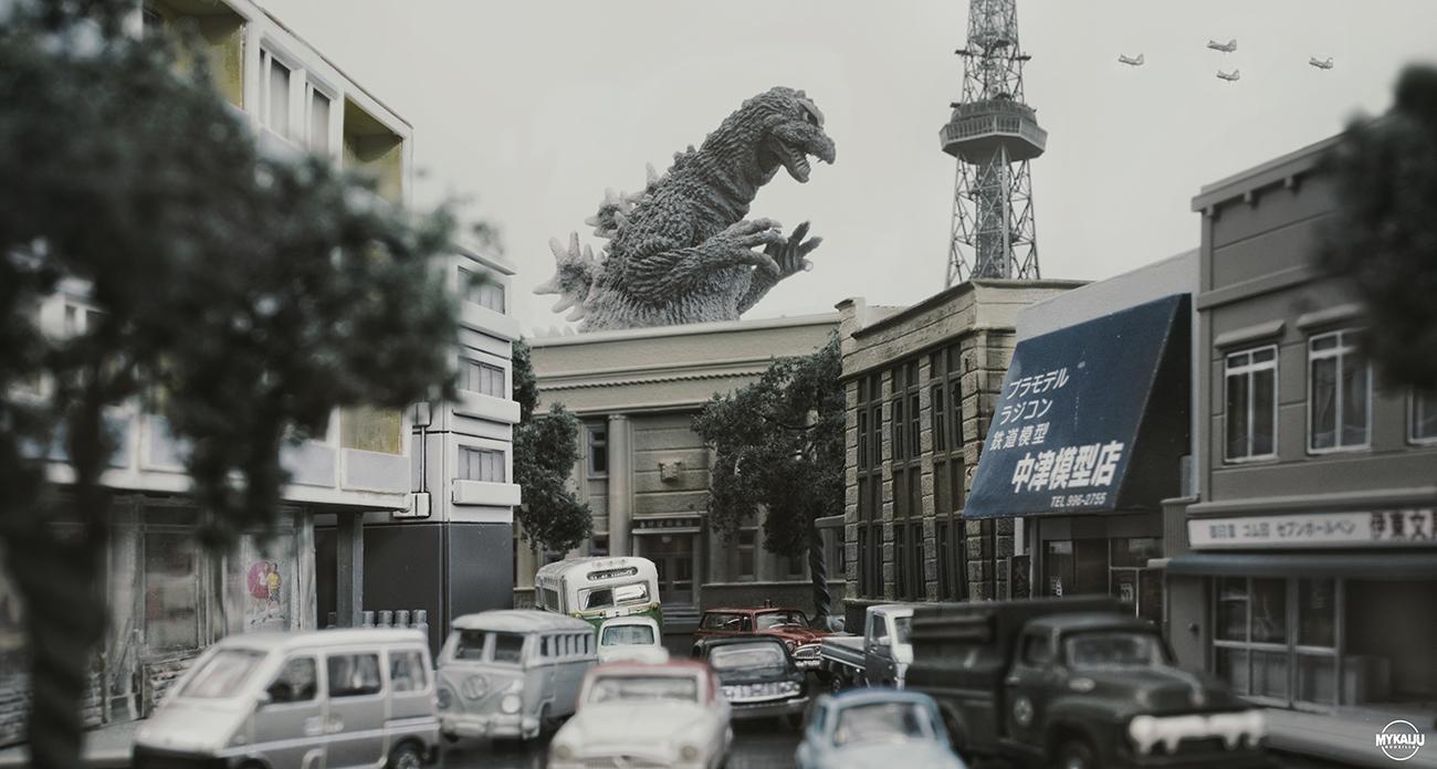 X-Plus 30cm Godzilla 1964 Approaches