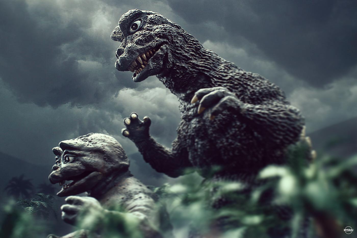 Godzilla and Minya