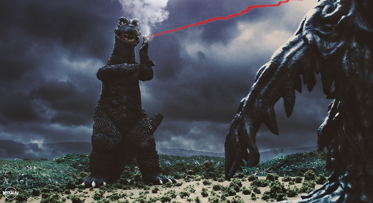 X-Plus 25cm Godzilla 1971 and Hedorah