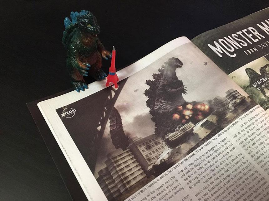 MyKaiju toy photography in G-Fan 2017