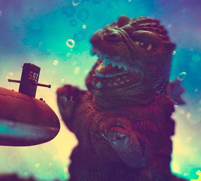 MyKaiju Godzilla | Godzilla & Submarine