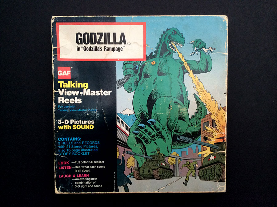 Godzilla Talking View-master Reel