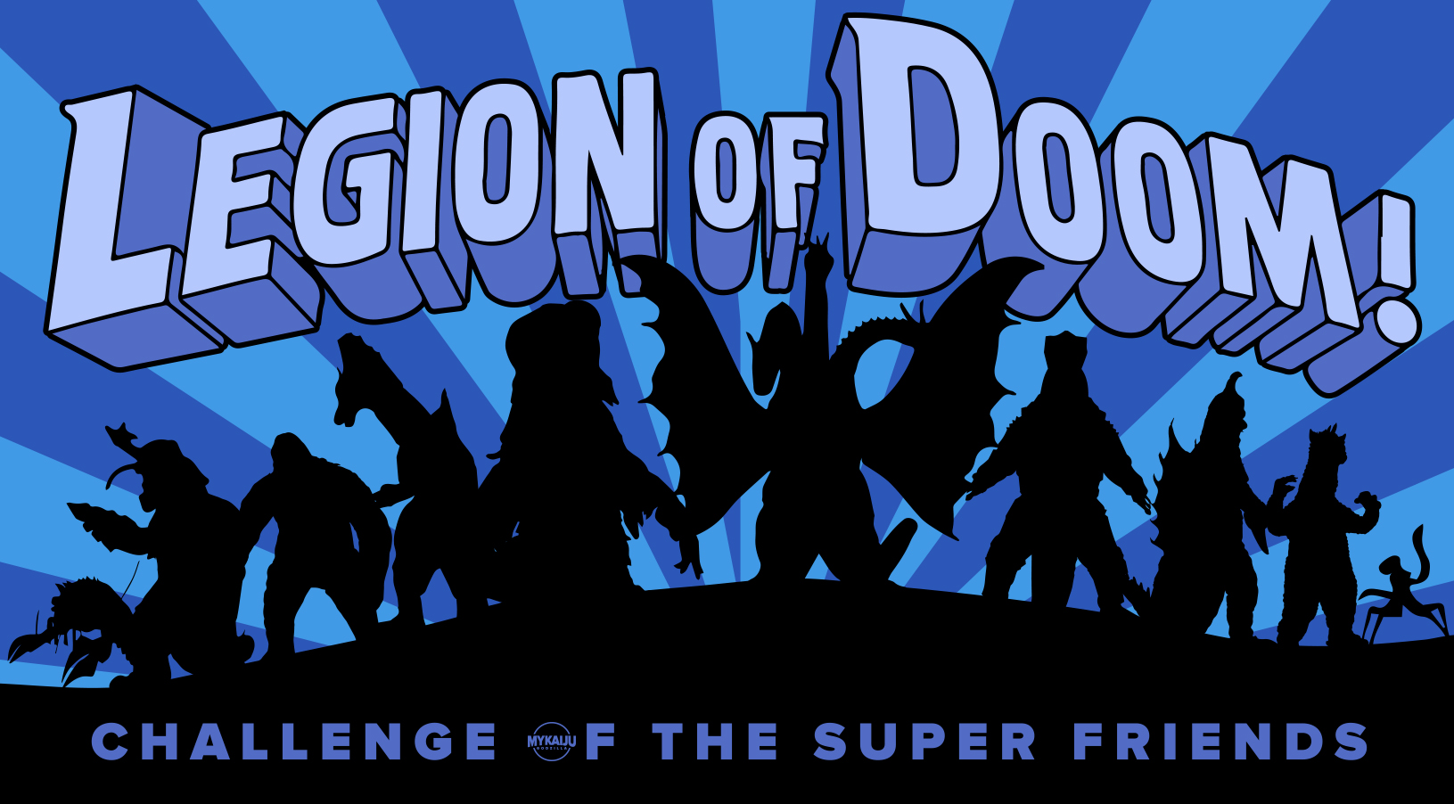 Godzilla's Enemies form the Legion of Doom that are the Challenge of the Super Friends