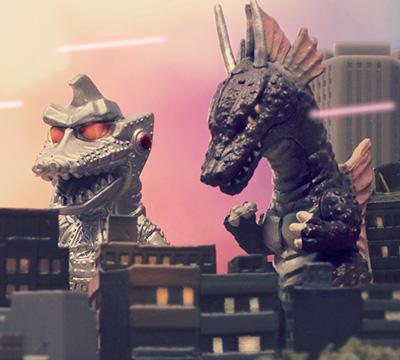 MyKaiju Godzilla   MechaGodzilla 2 & Titanosaurus
