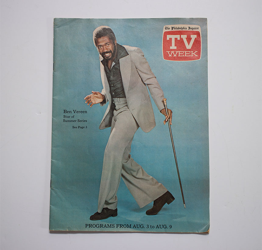 Philly Inquirer TV Week featuring Ben Vereen 1975