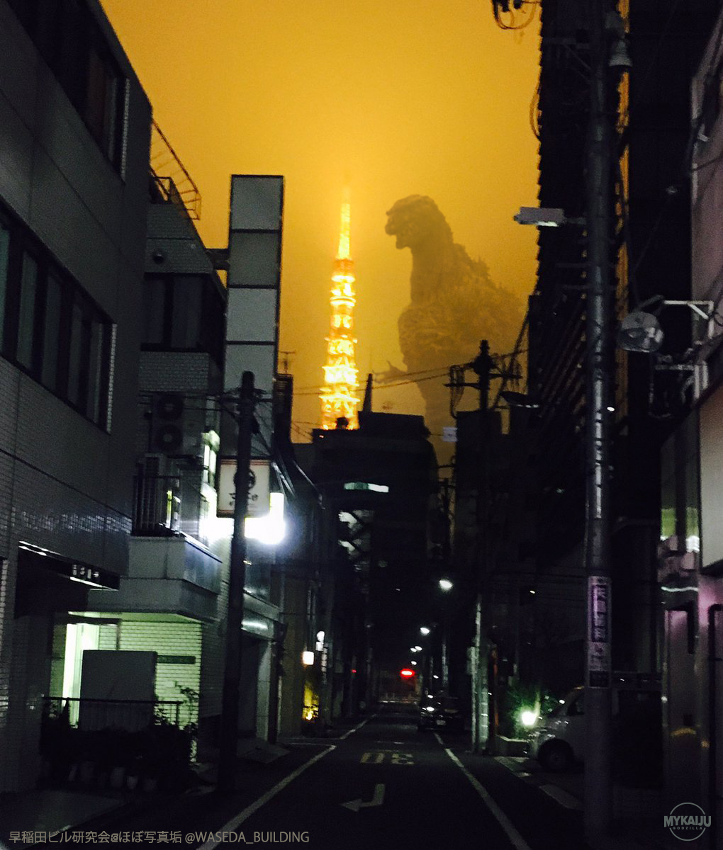 Shin Godzilla in the night