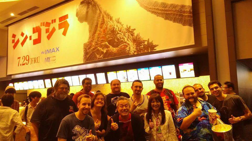 Shin Godzilla opening night group shot