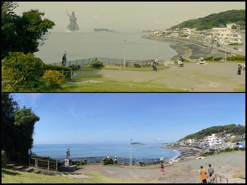 Shin Godzilla appears in Kamakura