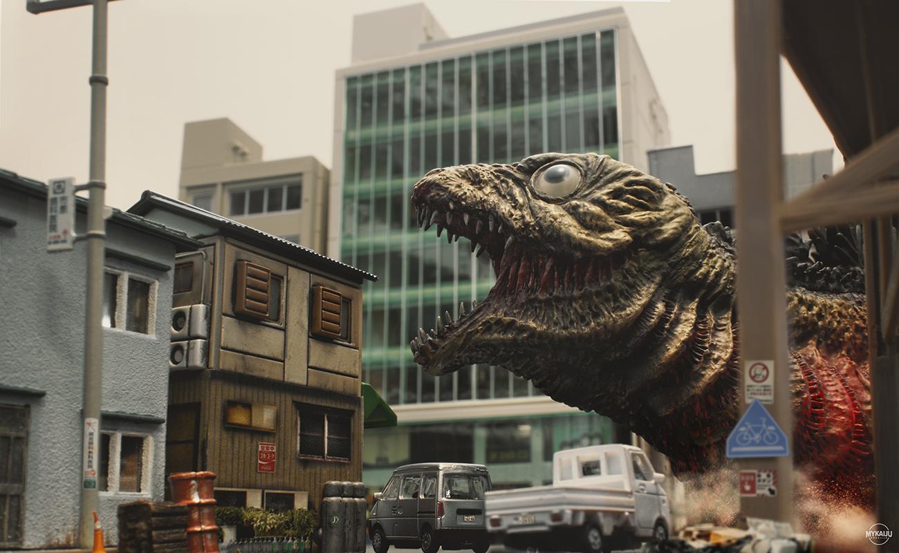 Shin Godzilla 2nd Form street view