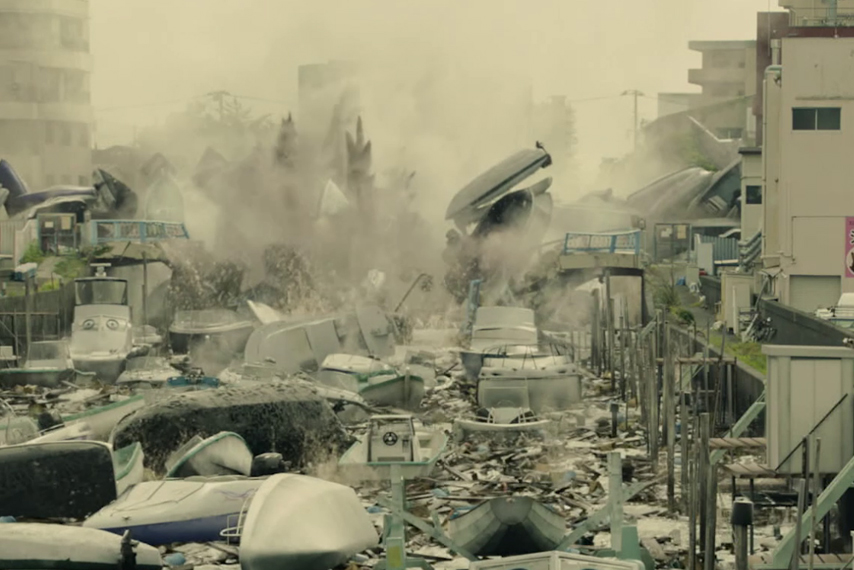Shin Godzilla 2nd form in the river