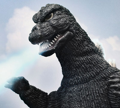 X-Plus 30cm Godzilla 1975 atomic fire