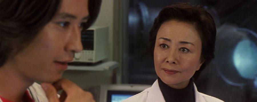 Yuriko Hoshi as Prof Yoshino Yoshizawa in Godzilla vs Megaguirus